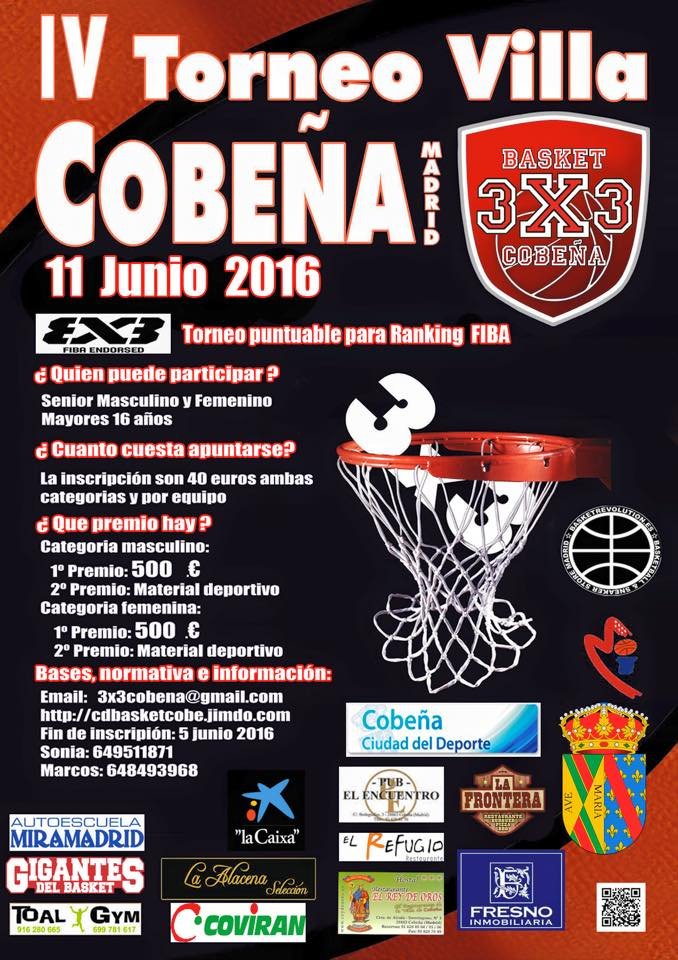 CARTEL TORNEO 3X3 BASKETLIFE 2016