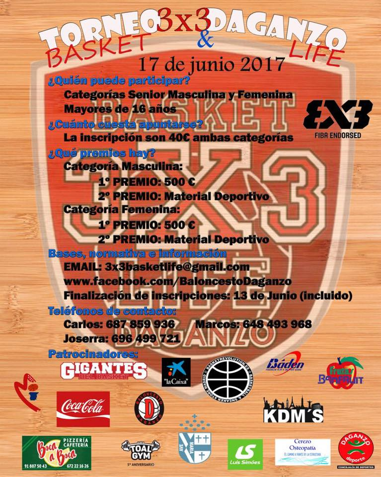 CARTEL TORNEO 3X3 BASKETLIFE 2017