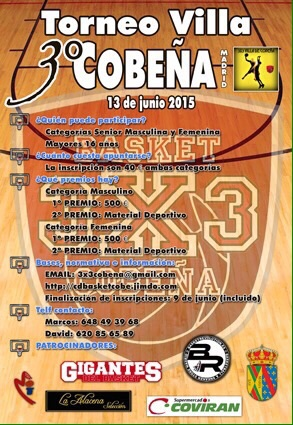 CARTEL TORNEO 3X3 BASKETLIFE 2015